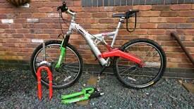 """CARERRA off road"""" Full suspension maintain bike."""