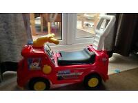 Fisher Price ride on fire truck / walker