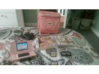 Pink Nintendo Ds lite with 5 games