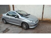 2004 PEUGEOT 206 cc CONVERTIBLE QUICKSILVER