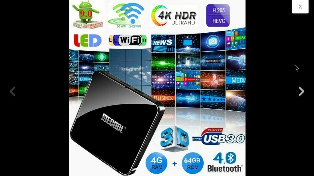 4K Ready, MeCOOL KM3 Android 9 - Quad Core 2GHz, Voice Control TV Box 4GB  Ram 64GB Storage | in Hull, East Yorkshire | Gumtree