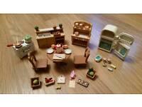 Sylvanian Families Deluxe Kitchen Set with Fridge