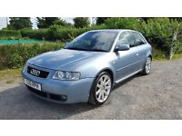 2003 AUDI S3 1.8T 225, NEW MOT, ONE PREVIOUS OWNER, S3 PRIVATE PLATE.