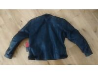 Ladies black leather motorcycle jacket size 18