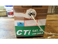 Boxed roll Cat 5e twisted pair network cable