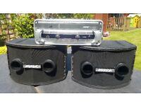 BOSE 802 SERIES II SPEAKERS WITH SYSTEMS CONTROLLER BEHRINGER iNUKE NU3000 3000 WATT POWER AMP