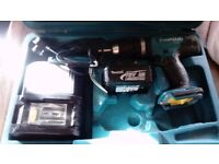 makita bhp453sh cordless power 18v battery drill with batter, case and charger