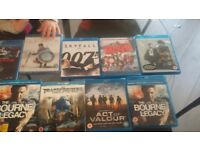 9 dvds blue rays