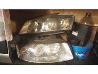 Audi A4 headlights set (2002-2005 B6) (Not BMW. Mercedes, Vauxhall, Ford)