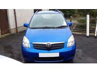 Toyota corolla verso bonnet blue