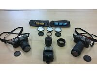 PENTAX 35mm camera, lenses, flash, filters, film, tripod, case - excelent condition - FREE DELIVERY