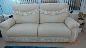 three seater sette from scs as new condition