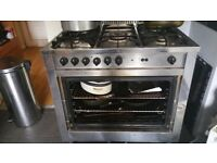 Silver range cooker for sale. Need removing asap as new one on its way