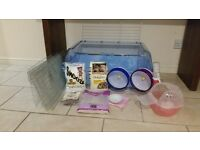 Large hamster cage, home habitat plus play pen and accessories