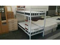 Metal Bunk Bed Unique Design. Ladder with proper steps. BRAND NEW BOXED
