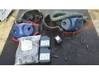 2x 3M Jupiter respirator, blower unit, hose, battery, charger & assorted parts .