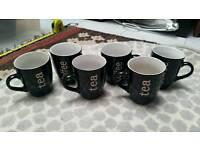 set of 6 coffee tea cups