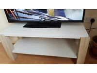 SOLID MODERN WHITE WOODEN TV UNIT BENCH CUPBOARD CAN DELIVER