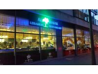 Al Masar Lebanese Restaurant - Looking for Waiters/Waitresses - London Next to ExCel Arena