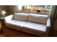Ikea Karlstad 3 seater sofa cream