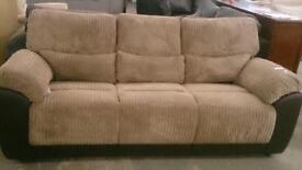 Brand new 3 seater jumbo cord sofa