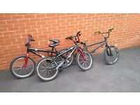 3 Kids BMX Bikes