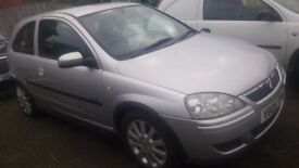 vauxhall corsa 1.2 petrol 10 mouth mot 2005 low miles