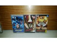 PSP games and UMD movies