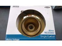 Eyeball spotlight gold
