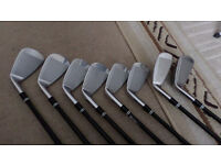 CLEVELAND 588MT IRONS 4 & 5 IRONS ARE 588 ALTITUDE 6 TO D WEDGE MT 588 REG FLEX GRAPHITE SHAFTS