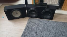 X2 very loud bass boxes an amp