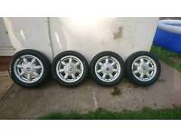 Mx5 alloys and tyres with eunos badges