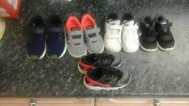 Toddler boys size 7.5 trainers