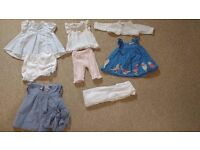 Girl 0-6 month dresses and snow suit