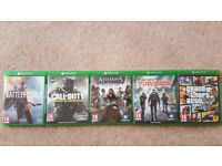 Xbox one - Battlefield1,Infinite Warfare,Assassins Creed Syndicate,Tom Clancy Division, GTA V