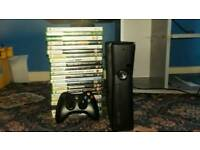 X box 360 with games and kinect