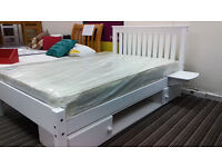 £190 - White, small double bed and furniture, local delivery possible