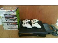 Xbox 360 and about 20 games 2 controlers!all working fine! Can deliver or post!