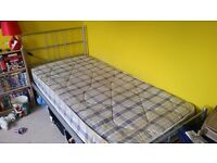 Available to pick up today! Single bed frame PLUS mattress
