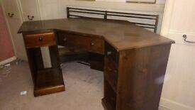 Wooden Corner Computer Desk