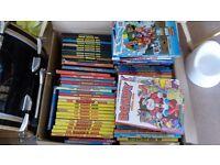 Job lot of comic annuals (Beano, Dandy, Beezer, Rupert, Marvel etc)- 1950's to 00's