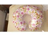 Chicco Boppy Feeding Pillow with Cotton Slip Cover