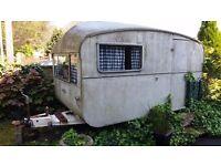 Vintage 2 berth caravan