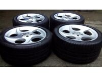 Mercedes SL Alphard 18 genuine alloys with tyres staggered 8,5j and 9,5j