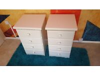 Solid Pine Bedside Tables / Bedside Cabinets (Freshly painted and waxed to high standard)