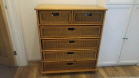 2 Wicker Chest of Drawers