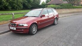 BMW 320i se Touring Estate Auto Candy Apple Red Metallic with Black Leather