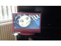 """15""""pink alba tv / dvd combo in excellent condition"""