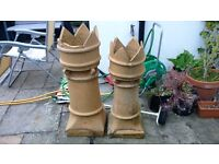 Victorian Chimney pots x2.