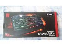 NEW wasdkeys K200 gamer keyboard -54% OFF